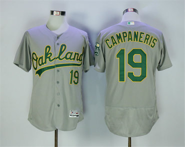 Athletics 19 Bert Campaneris Gray Flexbase Jersey