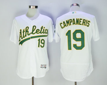 Athletics 19 Bert Campaneris White Flexbase Jersey