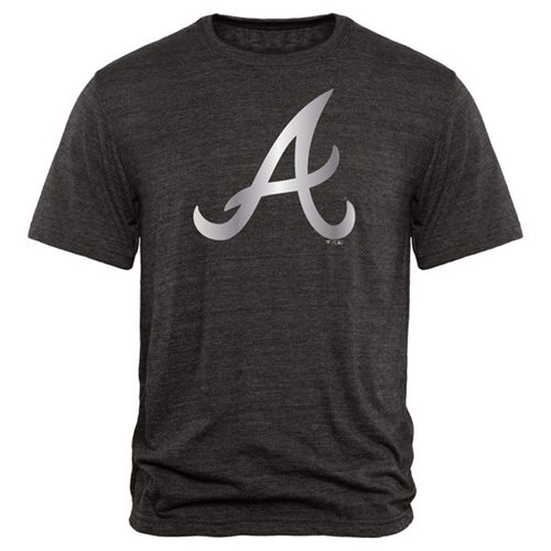 Atlanta Braves Fanatics Apparel Platinum Collection Tri-Blend T-Shirt Black
