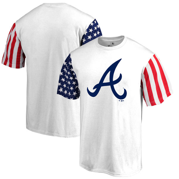 Atlanta Braves Fanatics Branded Stars & Stripes T-Shirt White