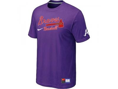 Atlanta Braves Purple NEW Short Sleeve Practice T-Shirt