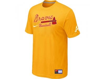 Atlanta Braves Yellow NEW Short Sleeve Practice T-Shirt