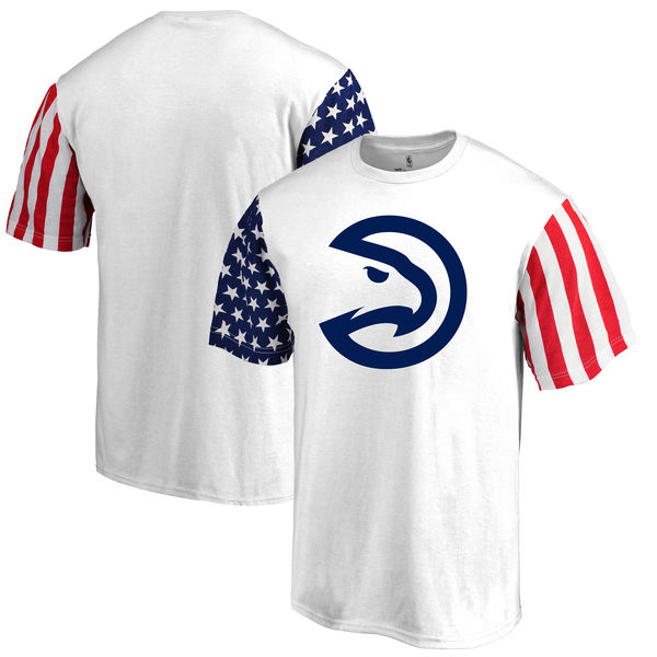 Atlanta Hawks Fanatics Branded Stars & Stripes T-Shirt White