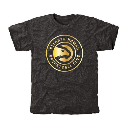 Atlanta Hawks Gold Collection Tri-Blend T-Shirt Black