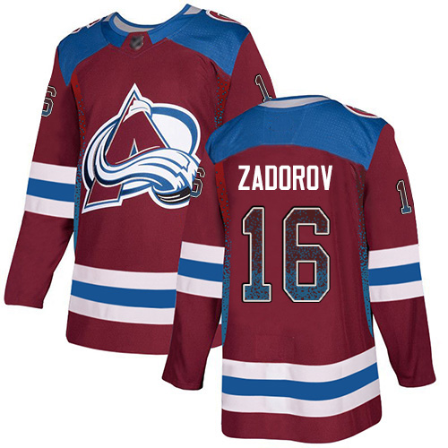 Avalanche #16 Nikita Zadorov Burgundy Home Authentic Drift Fashion Stitched Hockey Jersey