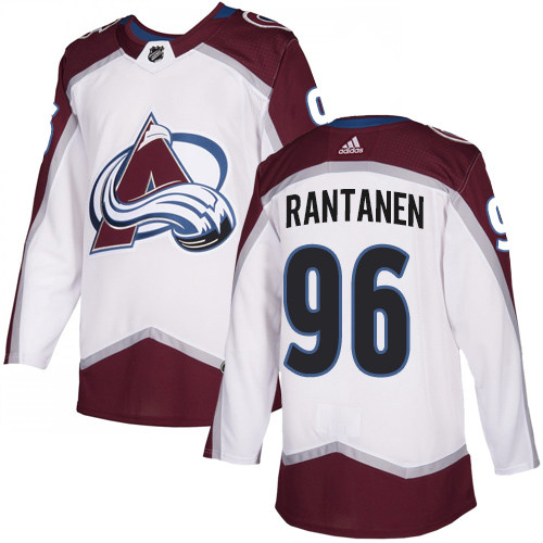 Avalanche #96 Mikko Rantanen White Road Authentic Stitched Hockey Jersey