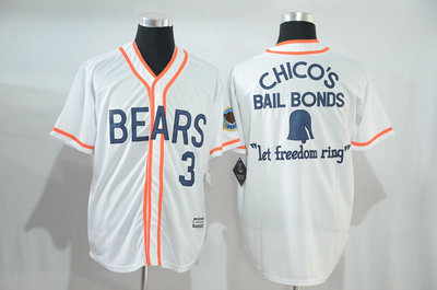 Bad News Bears #3 1976 Chico's Bail Bonds White Stitched Movie Jersey