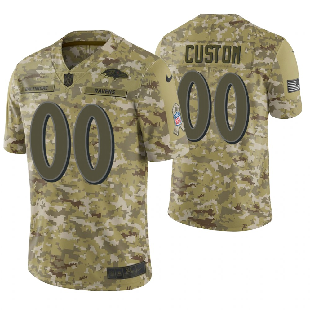 Baltimore Ravens Custom Camo 2018 Salute to Service Limited Jersey