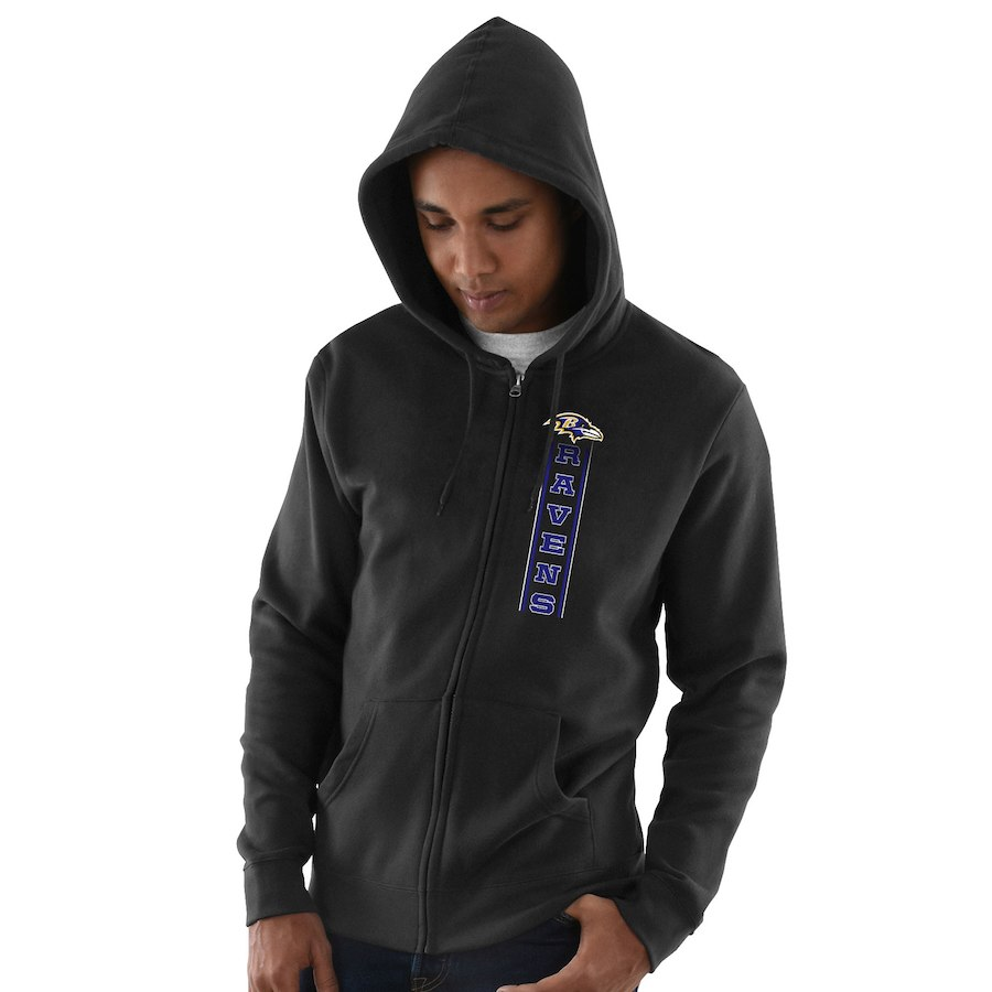 Baltimore Ravens Hook And Ladder Full Zip Hoodie Black