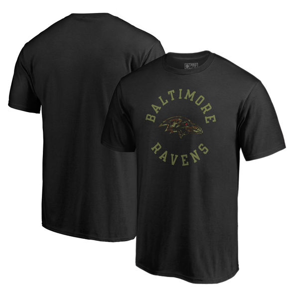 Baltimore Ravens NFL Pro Line By Fanatics Branded Camo Collection Liberty Big & Tall T-Shirt Black