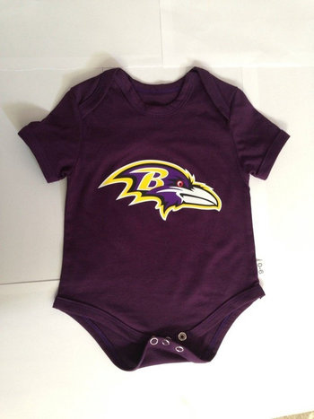 Baltimore Ravens Newborn Team Creepers - Purple