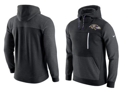 Baltimore Ravens Nike AV15 Fleece Pullover Hoodie Black