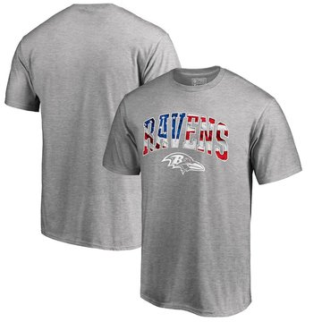 Baltimore Ravens Pro Line By Fanatics Branded Banner Wave T-Shirt Heathered Gray