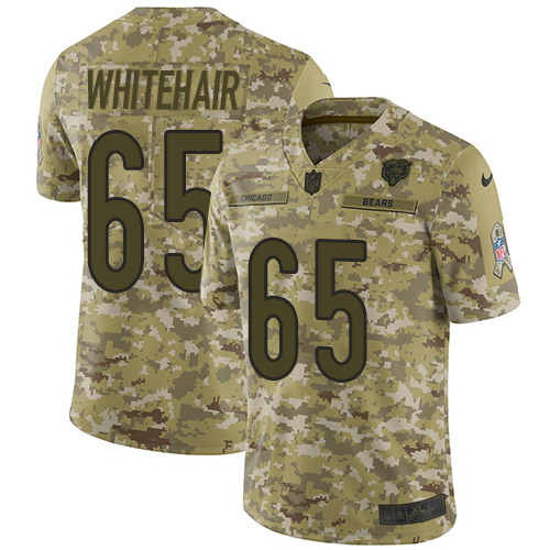 Bears #65 Cody Whitehair Camo Men's Stitched Football Limited 2018 Salute To Service Jersey