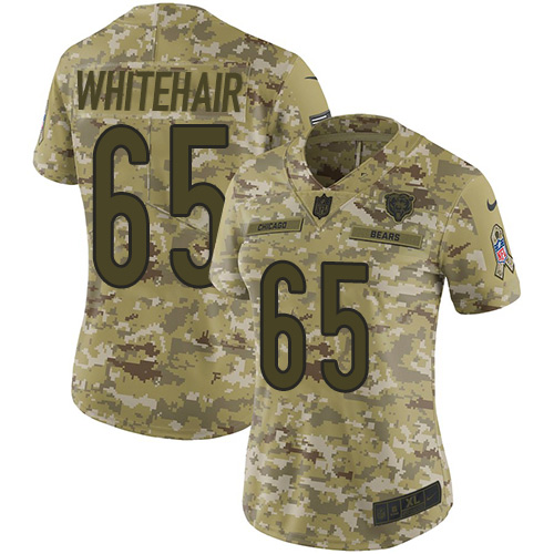 Bears #65 Cody Whitehair Camo Women's Stitched Football Limited 2018 Salute to Service Jersey
