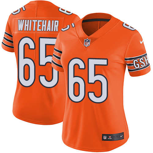 Bears #65 Cody Whitehair Orange Women's Stitched Football Limited Rush Jersey