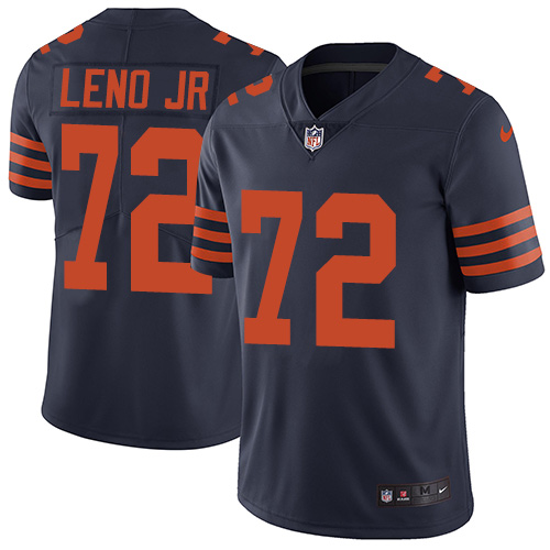 Bears #72 Charles Leno Jr Navy Blue Alternate Men's Stitched Football Vapor Untouchable Limited Jersey