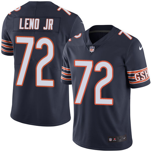 Bears #72 Charles Leno Jr Navy Blue Team Color Men's Stitched Football Vapor Untouchable Limited Jersey