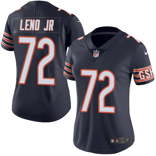 Bears #72 Charles Leno Jr Navy Blue Team Color Women's Stitched Football Vapor Untouchable Limited Jersey