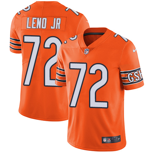 Bears #72 Charles Leno Jr Orange Youth Stitched Football Limited Rush Jersey