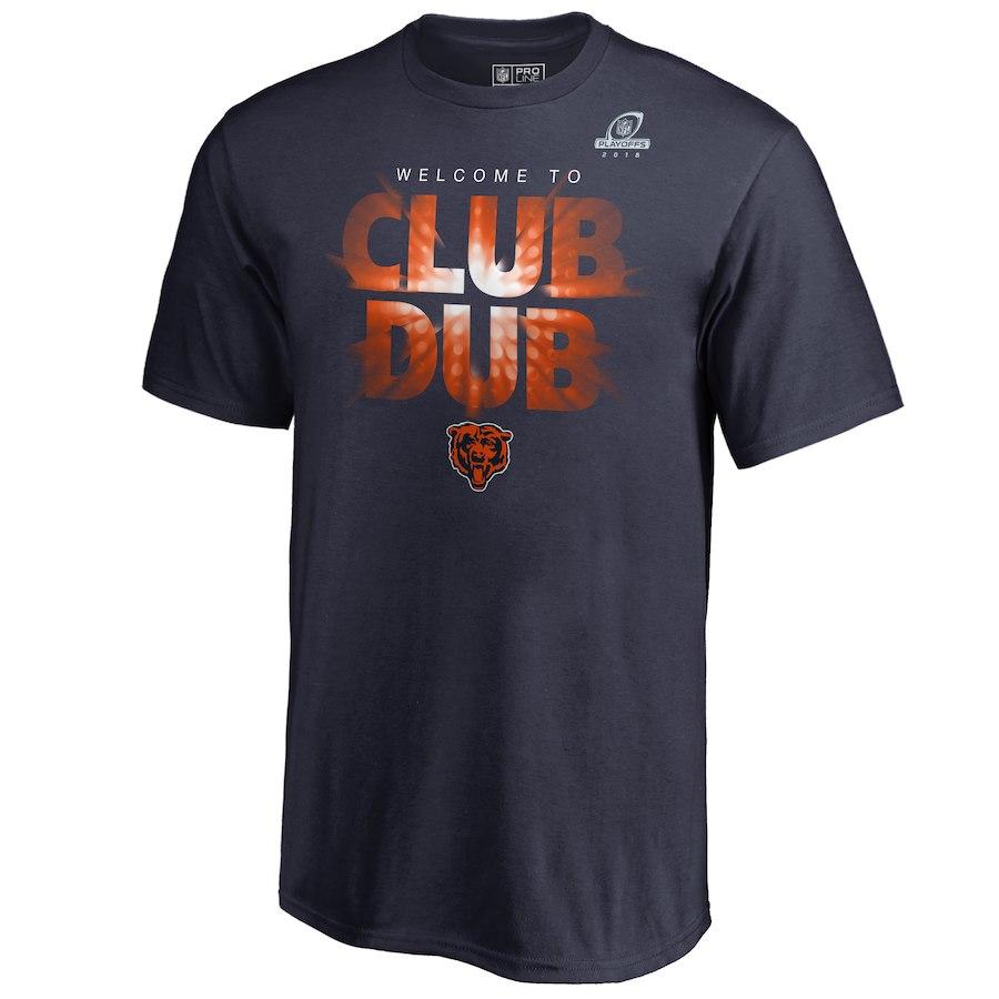 Bears Navy 2018 NFL Playoffs Club Dub Men's T-Shirt