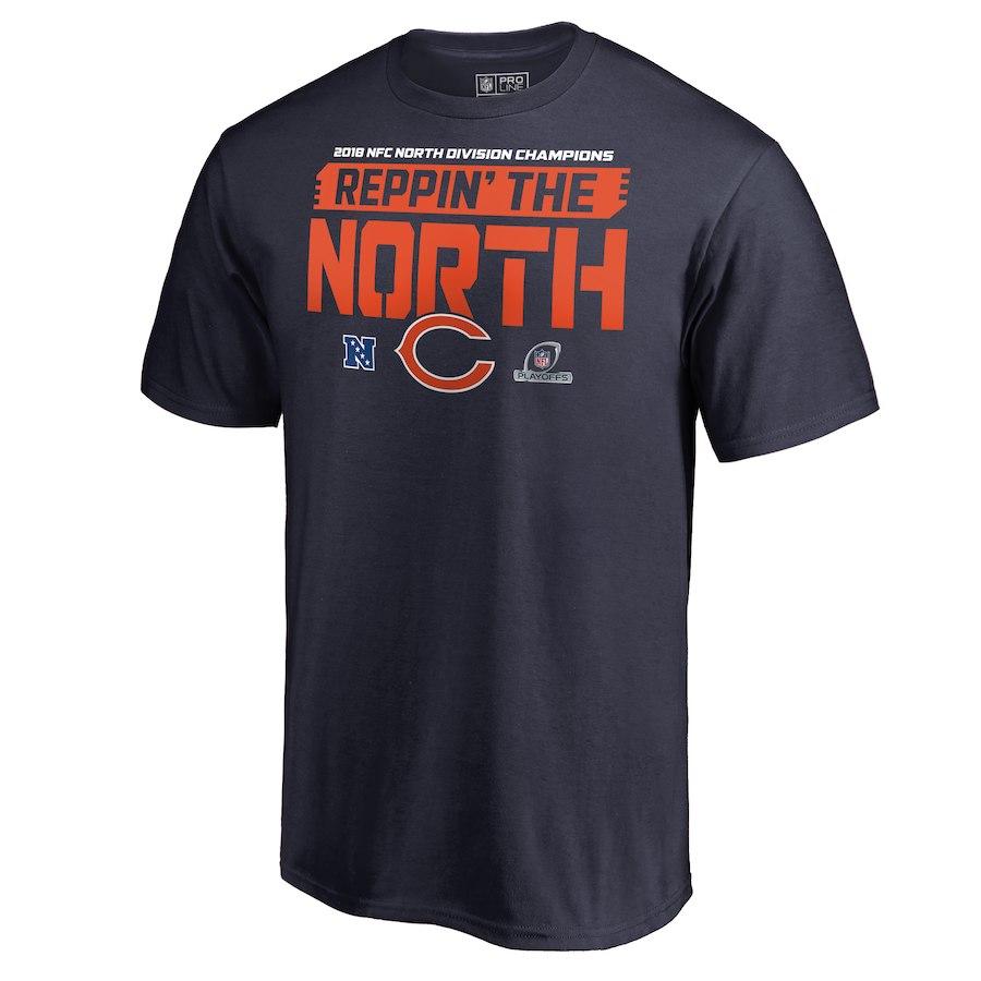 Bears Navy 2018 NFL Playoffs Reppin' The North Men's T-Shirt