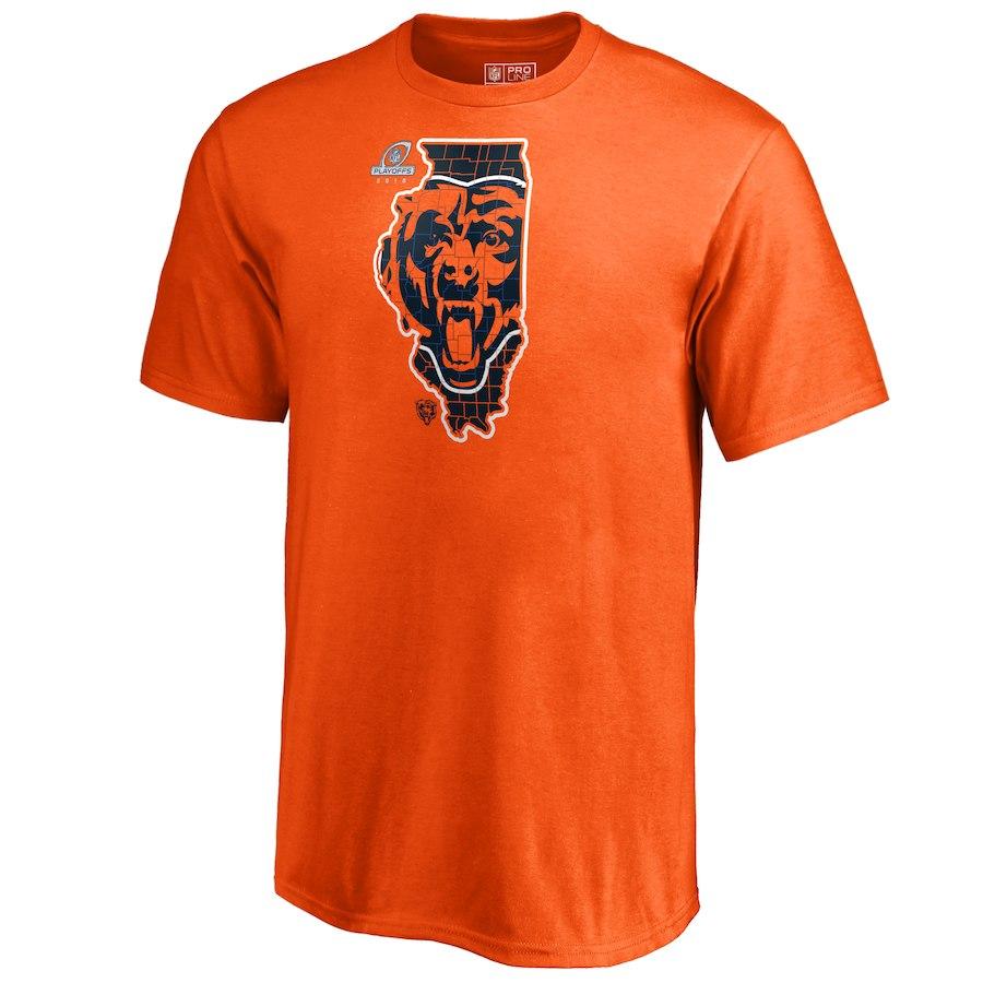 Bears Orange 2018 NFL Playoffs Men's T-Shirt