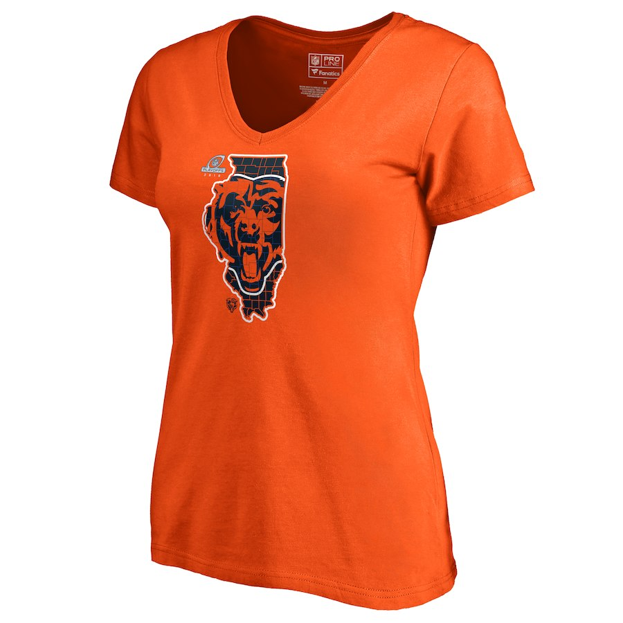 Bears Orange Women's 2018 NFL Playoffs T-Shirt