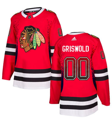 Blackhawks 00 Clark Griswold Red Drift Fashion Adidas Jersey