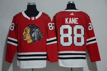 Blackhawks 88 Patrick Kane Red Glittery Edition Adidas Jersey