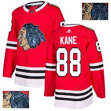 Blackhawks 88 Patrick Kane Red With Special Glittery Logo Adidas Jersey