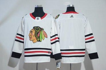 Blackhawks Blank White Adidas Jersey