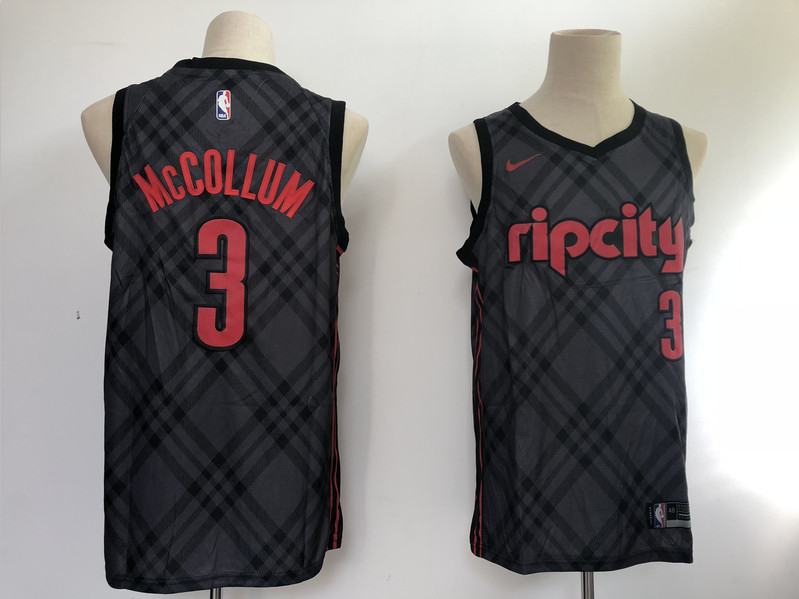 Blazers 3 C.J. McCollum Black City Edition Nike Swingman Jersey