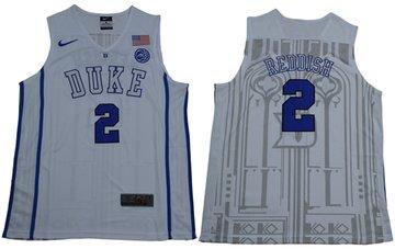 Blue Devils #2 Cameron Reddish White Basketball Elite Stitched NCAA Jersey