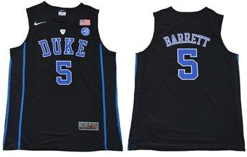 Blue Devils #5 R.J. Barrett Black Basketball Elite Stitched NCAA Jersey