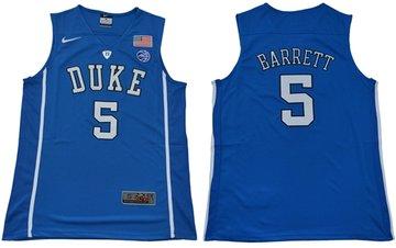 Blue Devils #5 R.J. Barrett Blue Basketball Elite Stitched NCAA Jersey