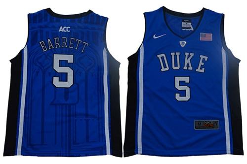 Blue Devils #5 R.J. Barrett Blue Black Basketball Elite Stitched Youth College Jersey