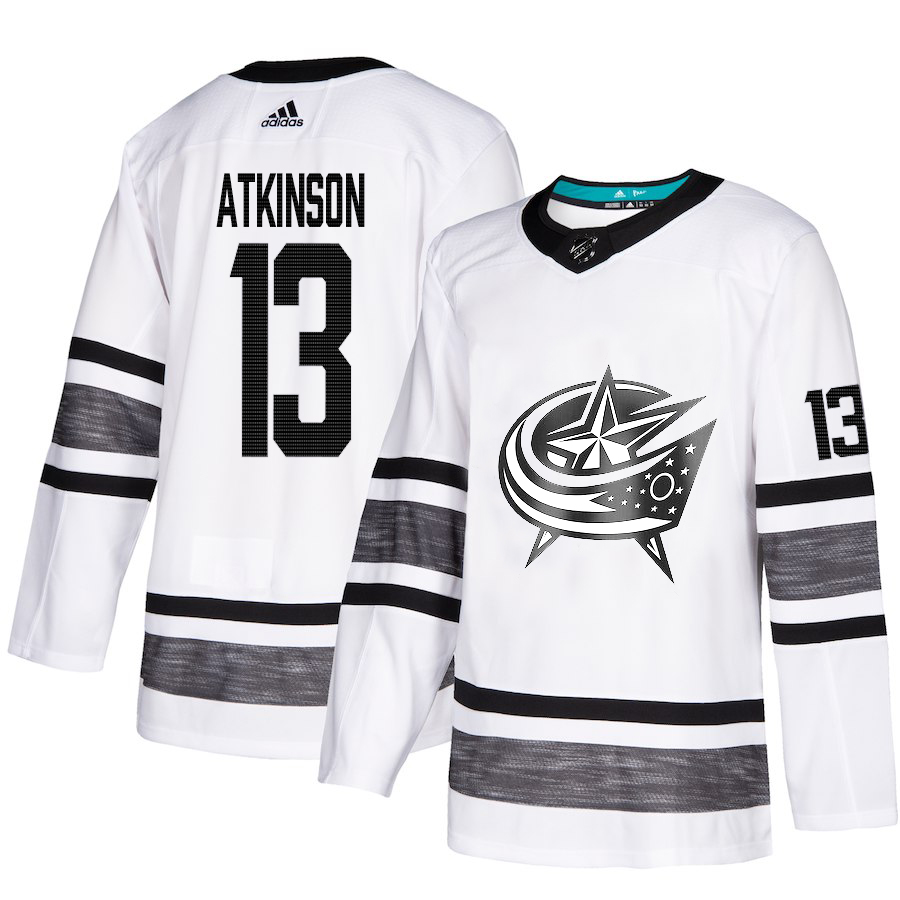 Blue Jackets #13 Cam Atkinson White Authentic 2019 All-Star Stitched Hockey Jersey