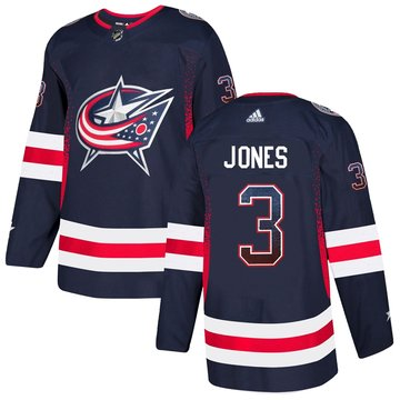 Blue Jackets 3 Seth Jones Navy Drift Fashion Adidas Jersey