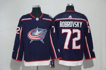 Blue Jackets 72 Sergei Bobrovsky Navy Adidas Jersey