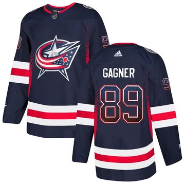 Blue Jackets 89 Sam Gagner Navy Drift Fashion Adidas Jersey