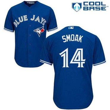 Blue Jays #14 Justin Smoak Blue New Cool Base Stitched Baseball Jersey