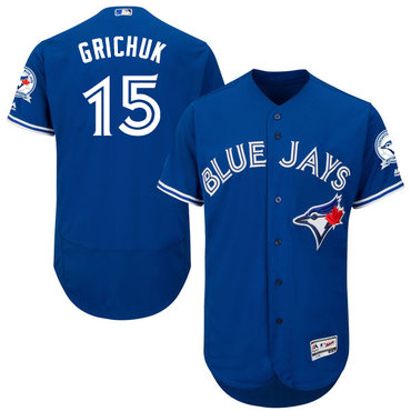 Blue Jays #15 Randal Grichuk Blue Flexbase Authentic Collection Stitched MLB Jersey