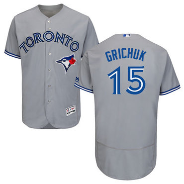 Blue Jays #15 Randal Grichuk Grey Flexbase Authentic Collection Stitched MLB Jersey
