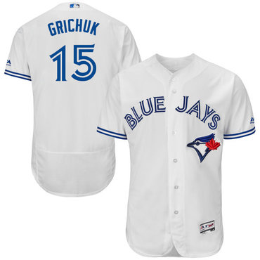 Blue Jays #15 Randal Grichuk White Flexbase Authentic Collection Stitched MLB Jersey