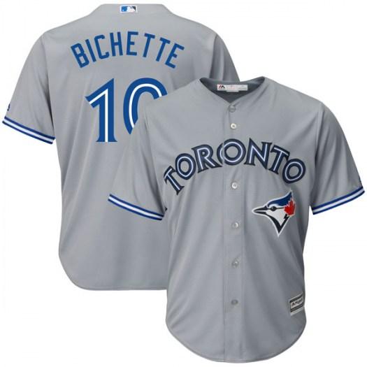 Blue Jays 10 Bo Bichette Gray Cool Base Jersey