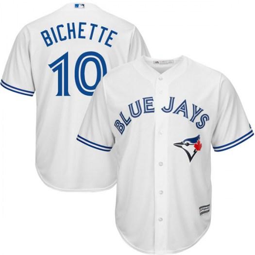 Blue Jays 10 Bo Bichette White Cool Base Jersey