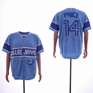Blue Jays 14 David Price Light Blue Cool Base Jersey