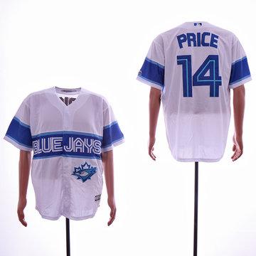 Blue Jays 14 David Price White Cool Base Jersey