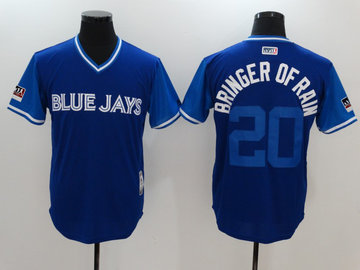 Blue Jays 20 Josh Donaldson Bringer Of Rain Royal 2018 Players' Weekend Authentic Team Jersey